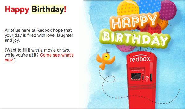 #3: Redbox: Happy Birthday. Happy_Birthday_from_Redbox. In This Birthday  Wish Email ...