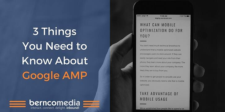 3 Things You Need to Know About Google AMP