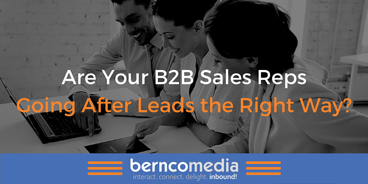Are Your B2B Sales Reps Going After Leads the Right Way - Bernco Media