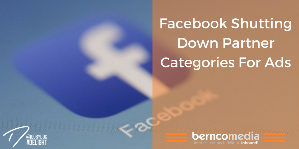 Facebook Shutting Down Partner Categories for Ads