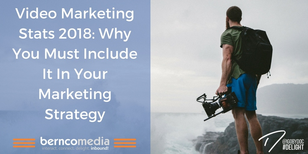 Video Marketing Stats 2018- Why You Must Include It In Your Marketing Strategy