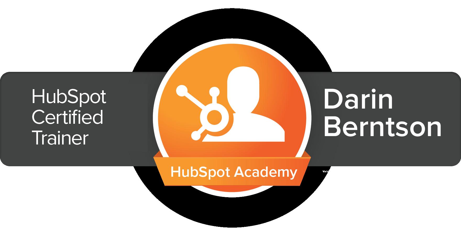 Darin Certified Trainer Badge